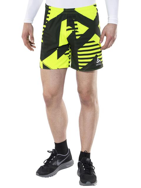 Odlo Dexter Shorts Men safety yellow-allover print SS17